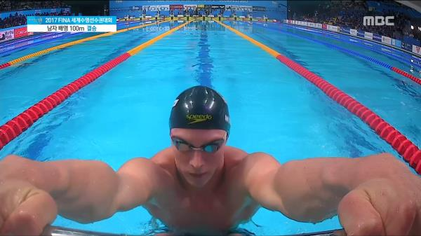 남자 배영 100m 결승 경기 영상