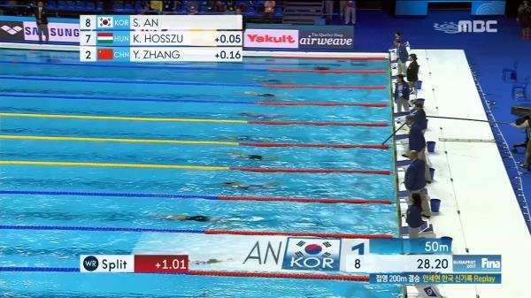 세계 4위!! 안세현 여자 접영 200m 결승 하이라이트 영상