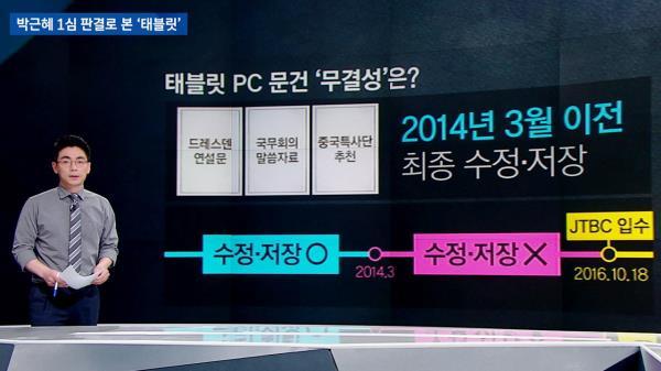 [팩트체크] 박근혜 1심 판결로 본 '태블릿'