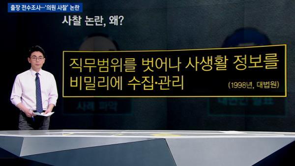 [팩트체크] 출장 전수조사…'의원 사찰' 논란으로?