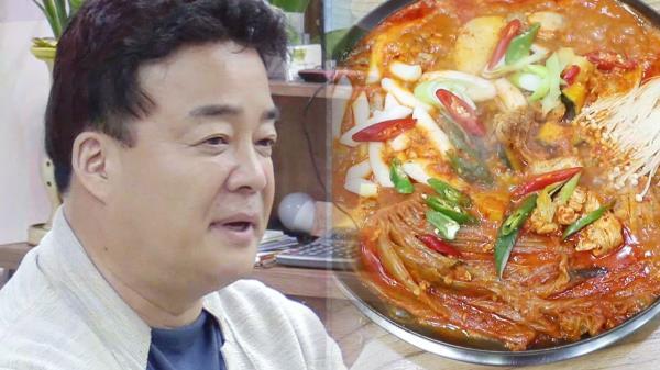 배수진을 친 백종원의 저녁 메뉴선정 '묵은지 닭볶음탕'