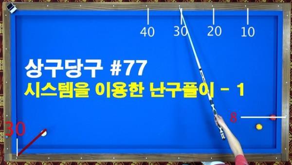 [당구/Billiard] 강상구의 상구당구 77편 끌림을 이용한 쓰리뱅크 난구풀이