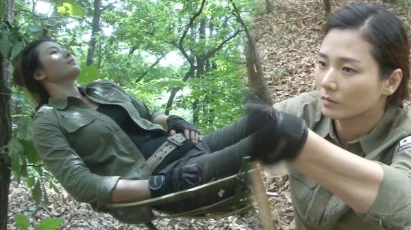 캠핑 여전사가 만든 '대나무 해먹'의 편안함♥