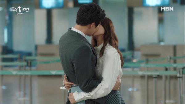 김준면(EXO 수호)♡하연수, 떨어져 있는 동안 못할 키스 몰아하기! (적금키스)