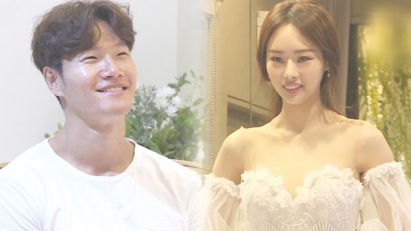 김종국, 모델 조카 우승희 신부 드레스에 '광대 승천'
