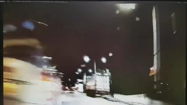 [단독] 박해미 남편 차 블랙박스 영상, 차선 변경하는 순간 사고