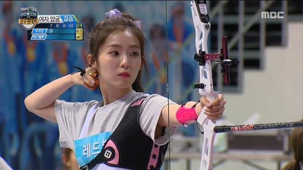 [아육대] 이 소리는?! 화살로 렌즈 깬 레드벨벳 아이린!