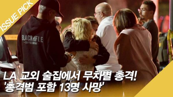 LA 교외 술집에서 무차별 총격! '총격범 포함 13명 사망'