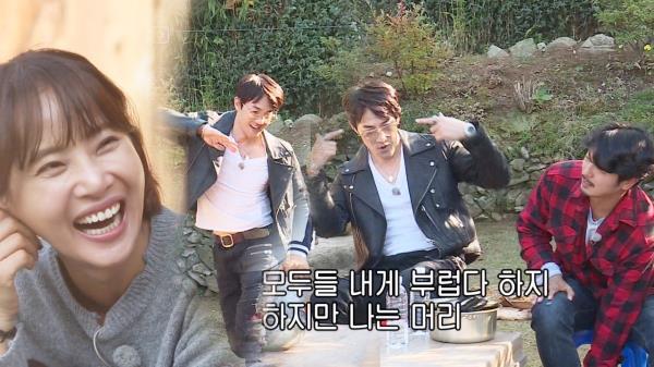 강경헌, 한정수 '귀요미댄스 + 랩'에 함박웃음