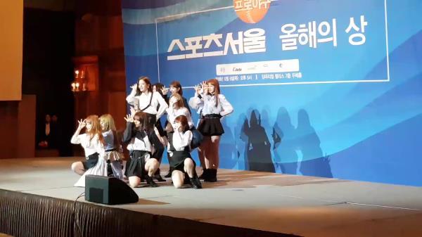 [직캠] 아이즈원 O'My, 양의지 등 야구선수들도 반한 걸그룹