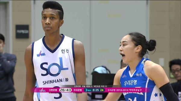 WKBL 여자농구 [우리은행 : 신한은행] 양 팀간에 신경전!