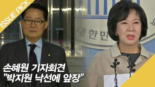"""손혜원 기자회견 """"박지원 낙선에 앞장, 함께 검찰조사 받고 싶다"""""""