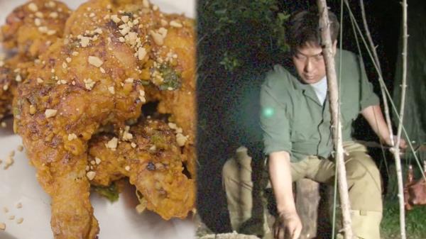 캠핑 요리의 달인이 직접 굽는 야생 왕갈비 통닭!