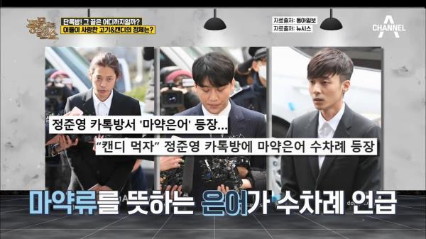 '승리-정준영 단톡방' 마약 투약 가능성이 의심되는 대화들! (고기, 캔디)