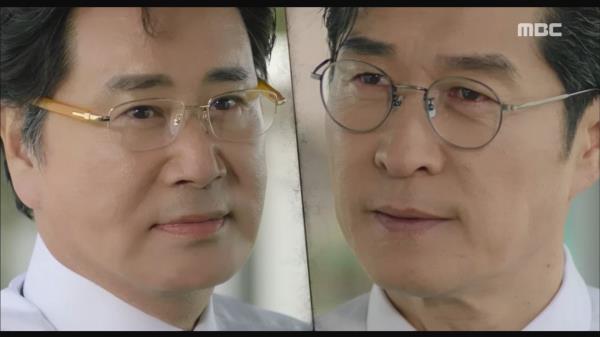 """[엔딩] """"계획의 배후, 행장님이십니까?"""" 사격을 하며 얘기를 나누는 김상중과 유동근"""