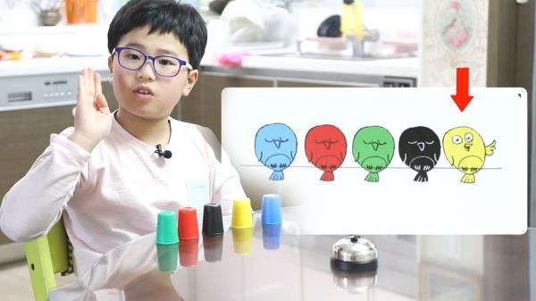 기억 천재 정인교, 색깔 컵 쌓기 카드 전부 암기!