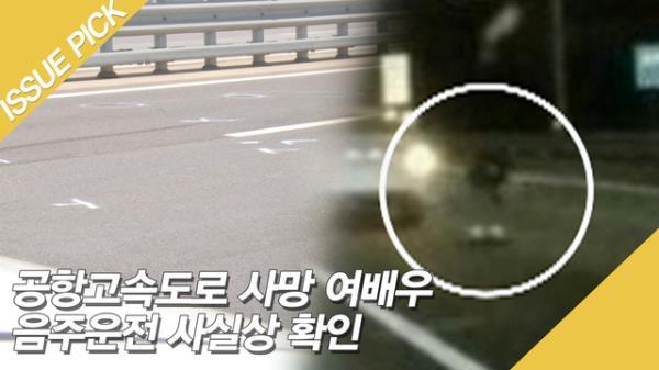 공항고속도로 사망 여배우, 故 한지성 '음주' 확인