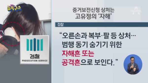 """검찰 """"고유정, 범행 후 본인 신체 일부 자해"""""""