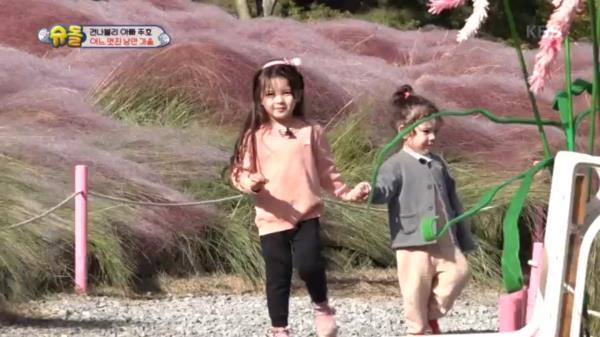 핑크뮬리의 핑크빛 남매♡ 동생 챙기는 누나은!