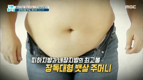 '장독대형' 뱃살, 원인은 과식?!