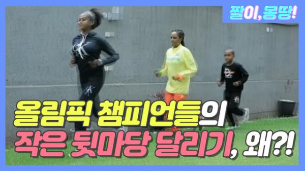 올림픽 챔피언들의 '작은 뒷마당 달리기' 왜?!