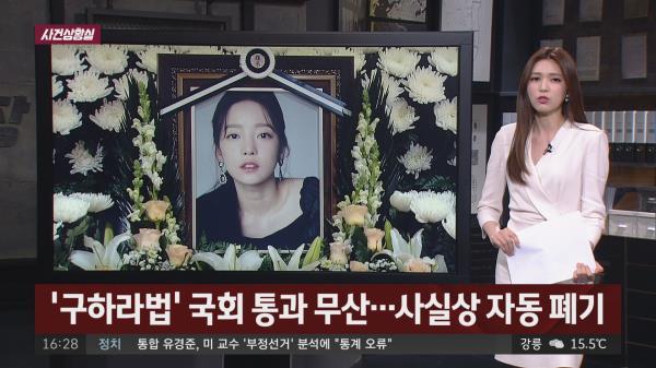 [사건상황실] '구하라법' 결국 폐기