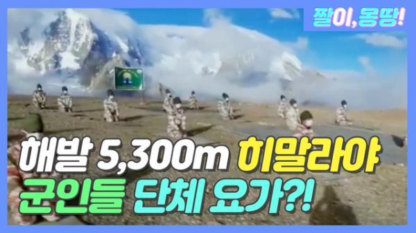 해발 5,300m 히말라야에서 군인들 '단체 요가'?!