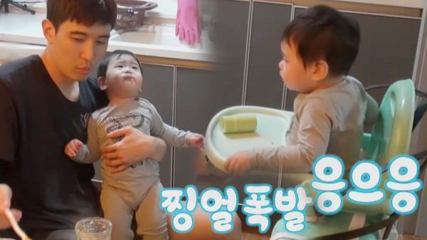 '초보 대디' 강경준, 아슬아슬 독박 육아!