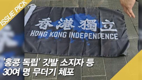 홍콩보안법 첫 시행…'홍콩 독립' 깃발 소지자 체포
