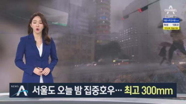 서울 전역 호우경보…한강 잠수교 보행·차량 통제