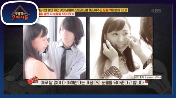 일본에는 8만 원만 내면 꽃미남들이 스트레스 해소해주는 눈물 치료법이 있다!