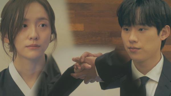 김성철, 슬퍼하는 박지현에게 따뜻한 위로