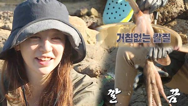 '살림꾼' 윤은혜, 거침없는 손길로 자이언트 문어 손질!