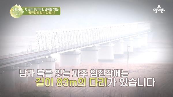 길이 83m! 남북을 잇는 임진강에 있는 다리의 이름은?