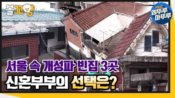 [엠뚜루마뚜루] 개성만점 빈집 매물 3곳! 신혼부부의 선택은? #엠뚜루마뚜루 (MBC 201126 방송)
