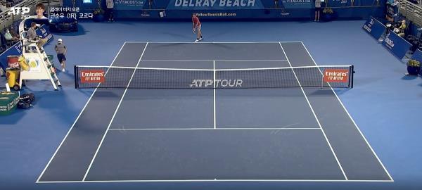 권순우 vs 세바스챤 코르다 2세트-2 [ ATP투어 2021 델레이 비치 오픈]