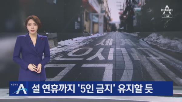 설 연휴까지 '5인 금지' 유지할 듯…9시 영업 제한도 검토