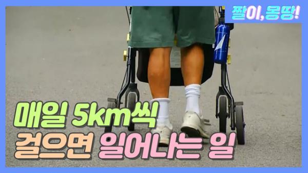 매일 5km씩 걸으면 일어나는 일!