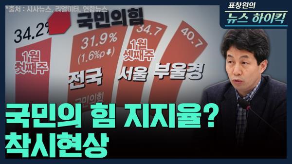 [표창원의 뉴스 하이킥] 국민의 힘 지지율? 착시현상 - 윤건영 (국회의원  |  더불어민주당) | MBC 210118방송
