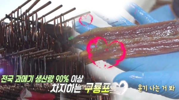 구룡포 자랑! 바닷바람이 만든 쫀득한 '햇 과메기'