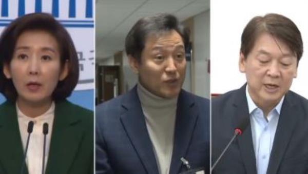 """나경원 """"10년 전 희생"""" vs 오세훈 """"책임으로 보답"""""""