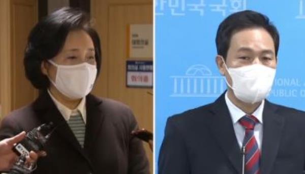 """박영선 """"광야로 떠난다""""…우상호와 맞대결"""