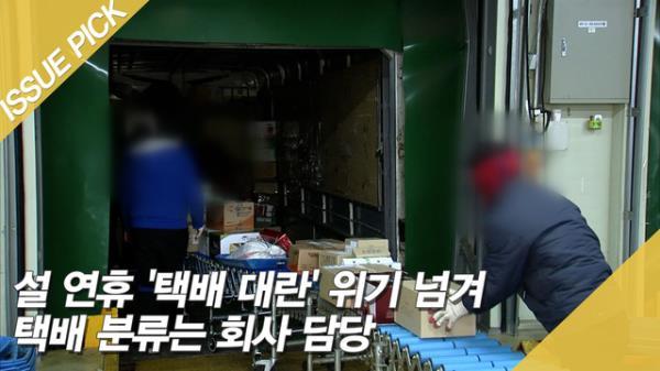 설 연휴 '택배 대란' 위기 넘겨 택배 분류는 회사 담당